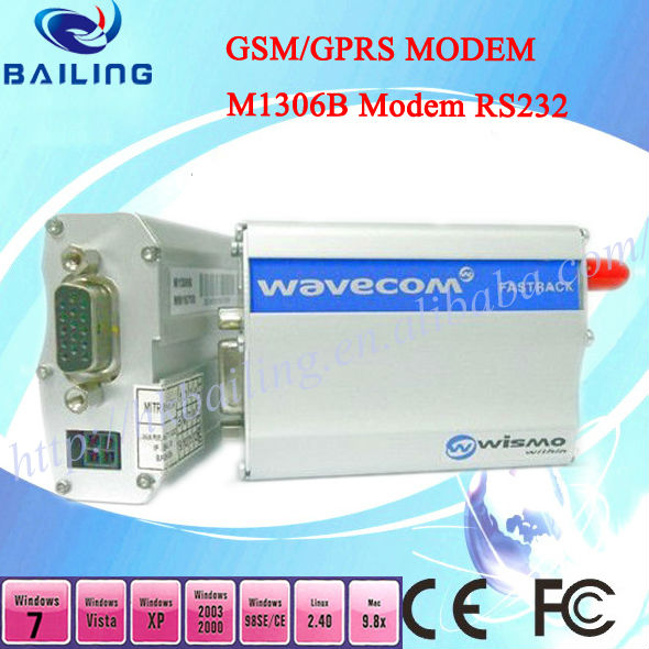 wavecom fastrack m1306b gsm gprs industrial modem wavecom q2403 module,support at command,tcp/ip stack for data transmission