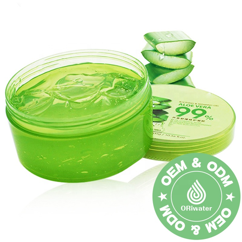 Private label riparazione sole gel di aloe vera crema