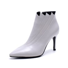 new women boots 2017 Hot sale one High heel boots manufacturer leather women shoes genuine leather women witer snow boot