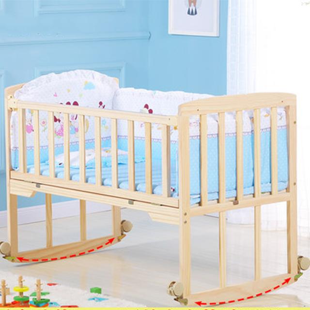 Natural Wood Color Adult Baby Crib/eco-friendly Handmade ...