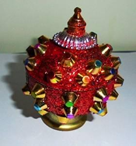 Artcollectibles India 2 Sindoor Trinket Box Tika Hindu Puja Home Decor Roli Mouli India Rakhi Boxes