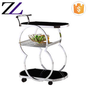 Hotel buffet room equipment airline tea wine service cart 3 tier stainless steel food service trolley designs prices
