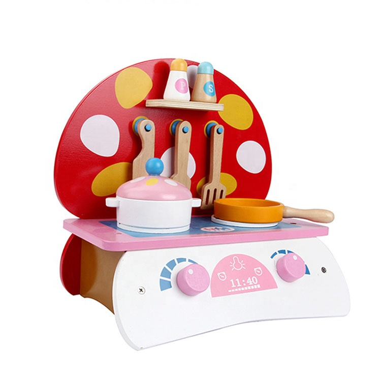 Small Cooktop Pretend Play Preschool Cooking Play Kitchen Table Set Toys