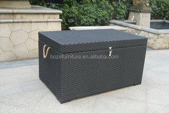 Cushion Box / Anti Uv Storage Box Wicker Rattan Outdoor Garden Furniture
