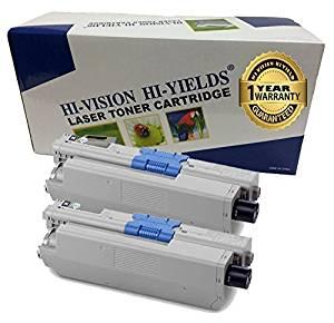 2pk Comp Cyan Toner Cartridge for Okidata Type C17 44469703 Oki C331 C530 MC562