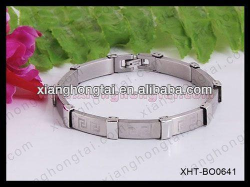 2013 wholesale stainless steel medic alert bracelet with strong magnet ,germanium ,negative ion and far infrared