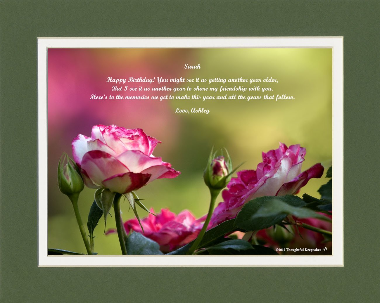 Get Quotations Personalized Friend Birthday Gift Roses Photo With Happy You Might See It