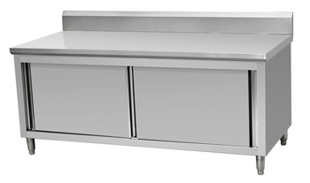 kitchen equipment restaurants stainless steel work table storage