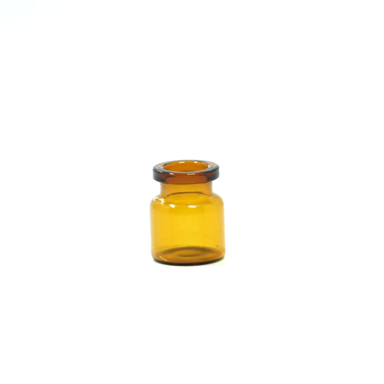 pretty price 4ml tubular amber glass vial bottle with flip off cap and butyl