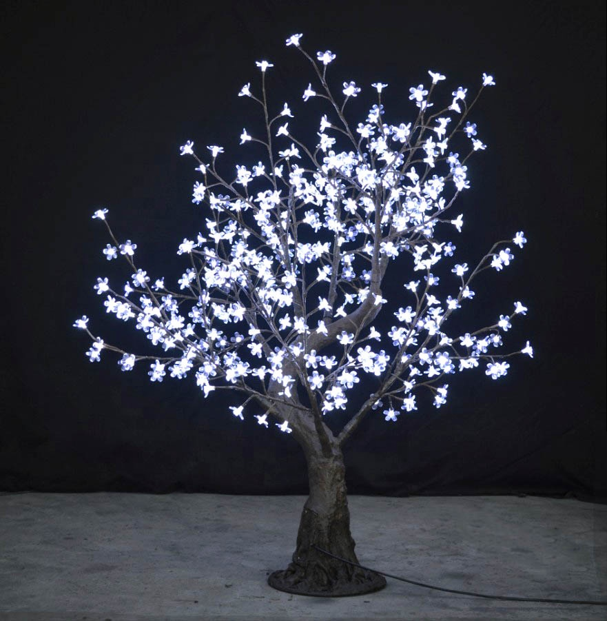 China suppliers outdoor artificial christmas decoration led sakura tree light