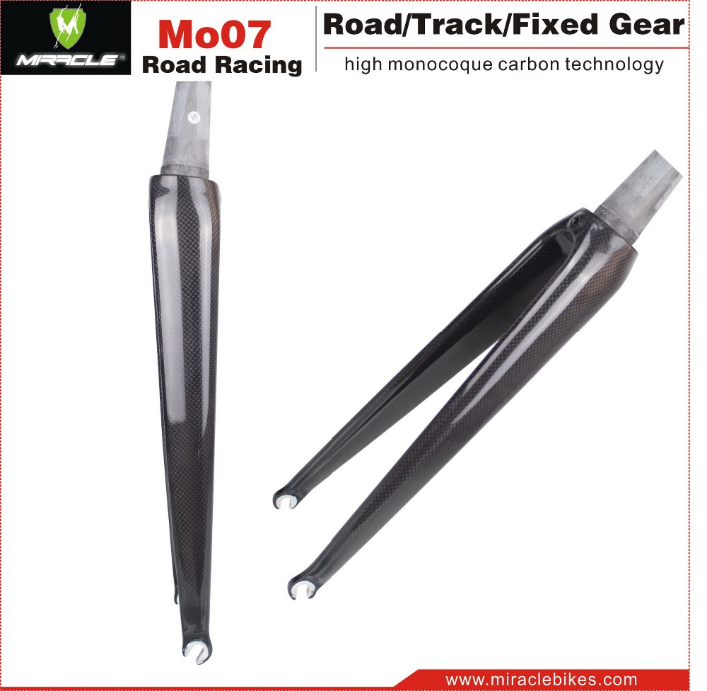 Miracle new design taper carbon fork road,light weight 350g carbon fork,road bikes bicycle carbon fork carbon frame