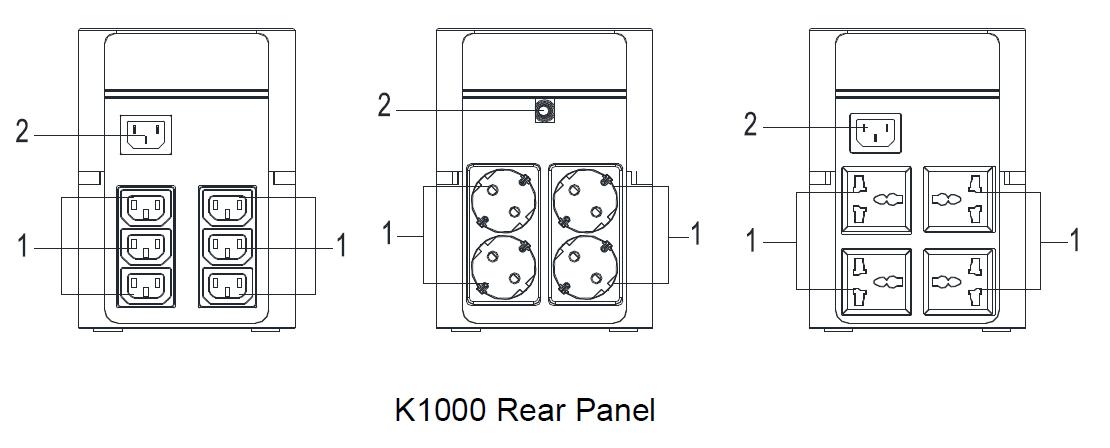 Uninterrupted Power Supply Santak K1000 Line Interactive 1000va 600w on