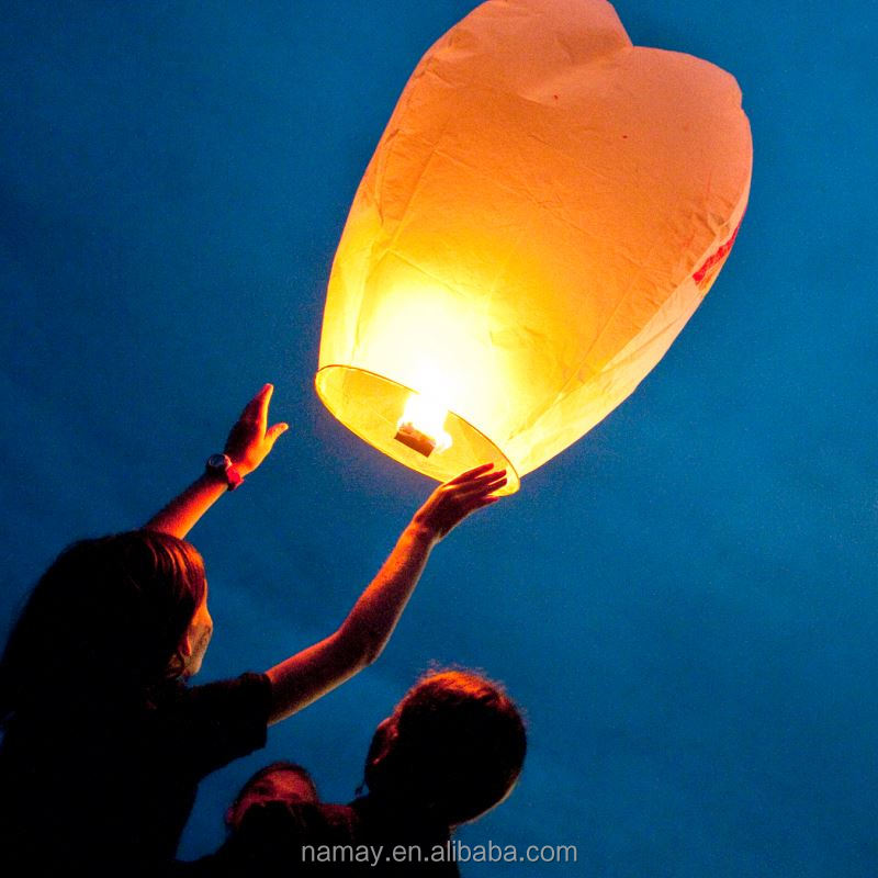 Flying Paper Wish Lantern for Wedding Favor