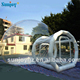 Outdoor cheap price clear crystal air dome house room camping hiking hotel inflatable transparent bubble tent for sale rent
