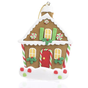 Polymer Clay Christmas Village.Polymer Clay Gingerbread Christmas House Ornament