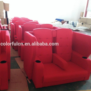 soft fabric theatre chairs with double seats cinema seating YA-1112