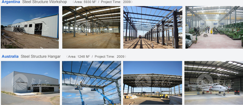 Exported in Africa steel structure warehouse building in steel structure workshop china