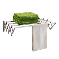 Bathroom accessory extendable towel bar Stainless stain Towel hook rack