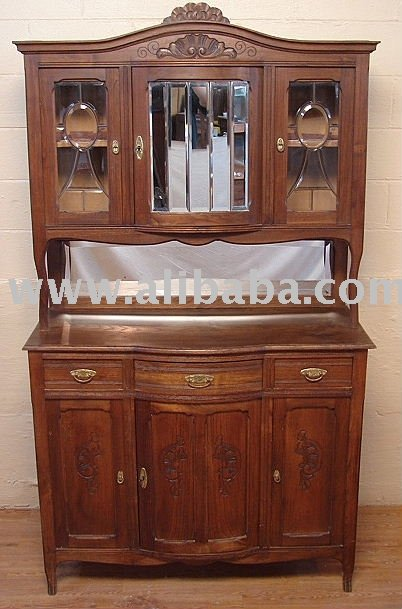 Carved French Country Oak Buffet China Cabinet Hutch - Buy China ...