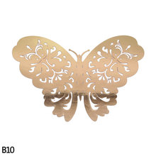 12 шт./компл. 3D настенные стикеры бабочки полые Бумага Бабочка наклейки для свадебного торжества и дня рождения дома номер деко DIY Baby Shower УП(Китай)