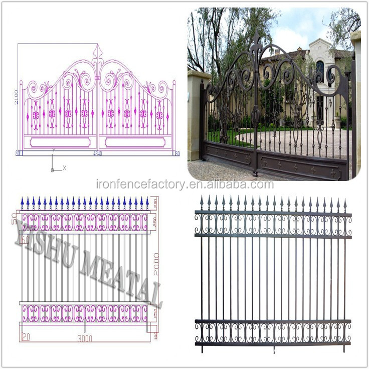 2016 Years New Products Italian Iron Gate Models House Main Gate ...