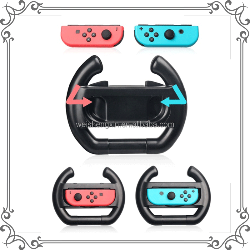 Left & Right Controller Direction Manipulate Steering Wheel Grip Handle for Nintendo Switch Joy-Con Controllers