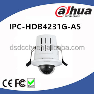 Dahua 2MP Smart Detection Recessed Mount Dome Micro SD memory IK08 PoE IPCamera IPC-HDB4231G-AS
