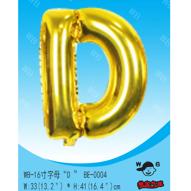 China new products clear number shaped gold foil balloon