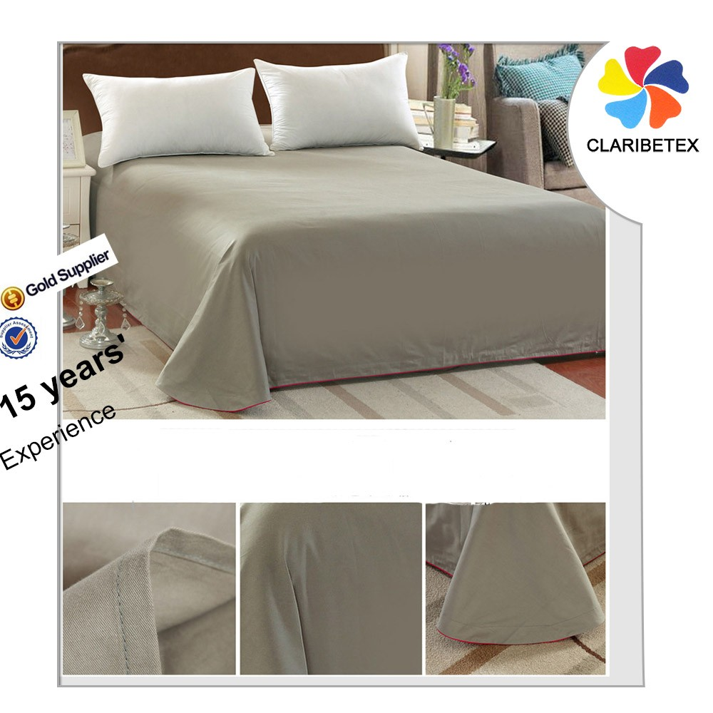 On Sale Cheap Flat100% Cotton Plain White Used Hotel Bed Sheets