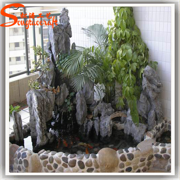 2016 artificial landscaping stones garden water fountain decorative stone for outdoor and indoor - Deco en de tuin ...