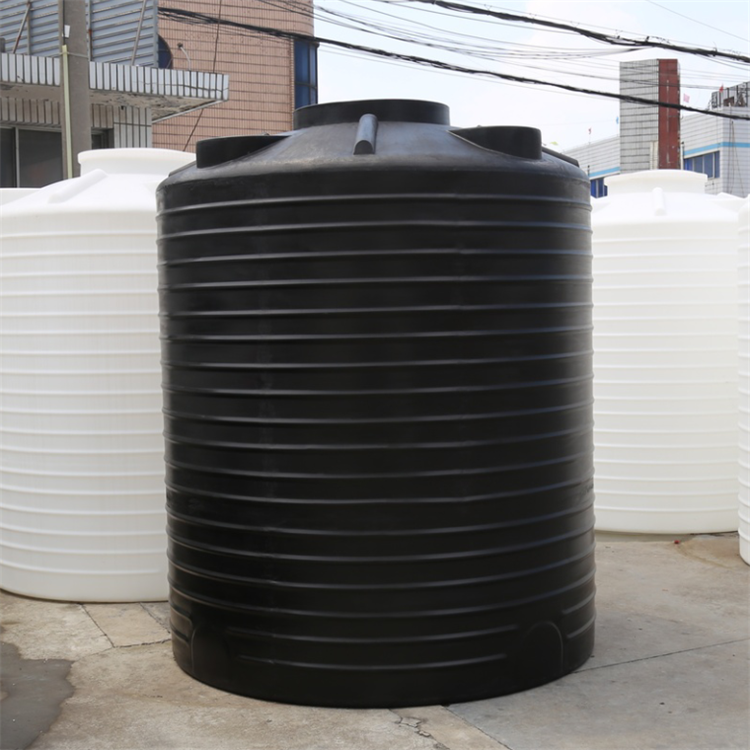 Big white PE plastic vertical round chemical liquid container water storage tank