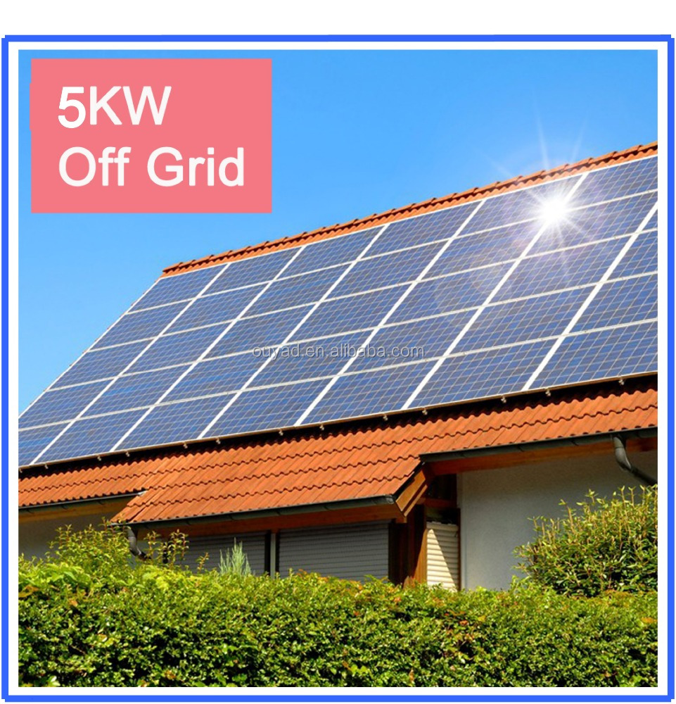 cheap off grid 5kw home solar energy system from ouyad