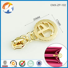 Metal Hollow Gold Ring Zipper Pull