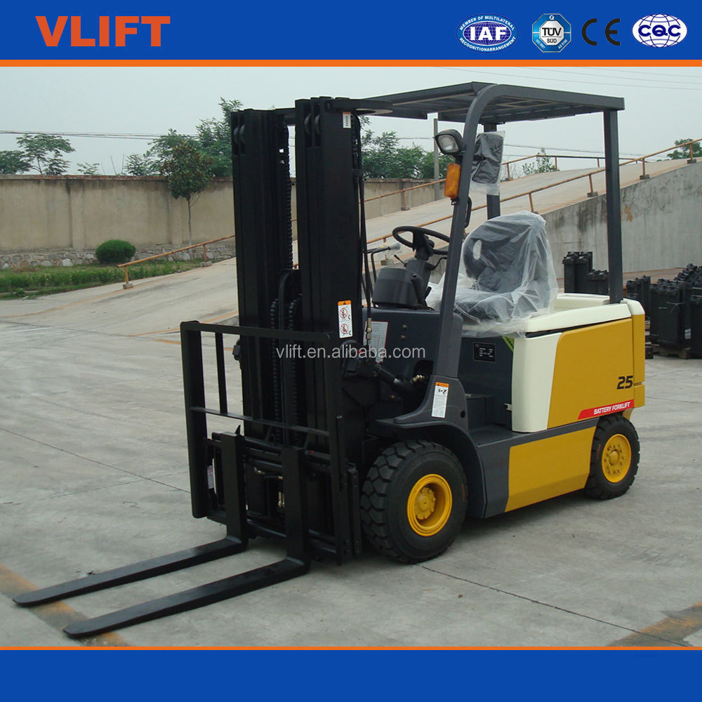 Full Electric Battery Forklift Truck 2.5 Ton TCM Quality Lifting Height 3m