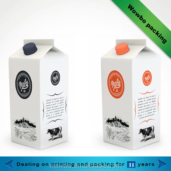 Aseptic paper custom milk carton