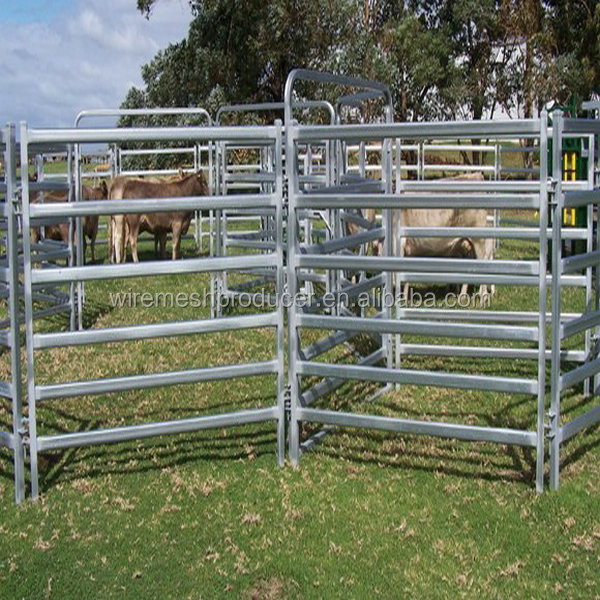 Oval Tube Rail Welded and Hot-dipped Gal Cattle Panel/Cattle Gate(Standard Australia Fence)