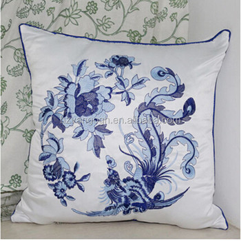 Butterfly Pattern Hangzhou Textile Embroidery Design Cushion Covers Simple Free Decorative Pillow Patterns