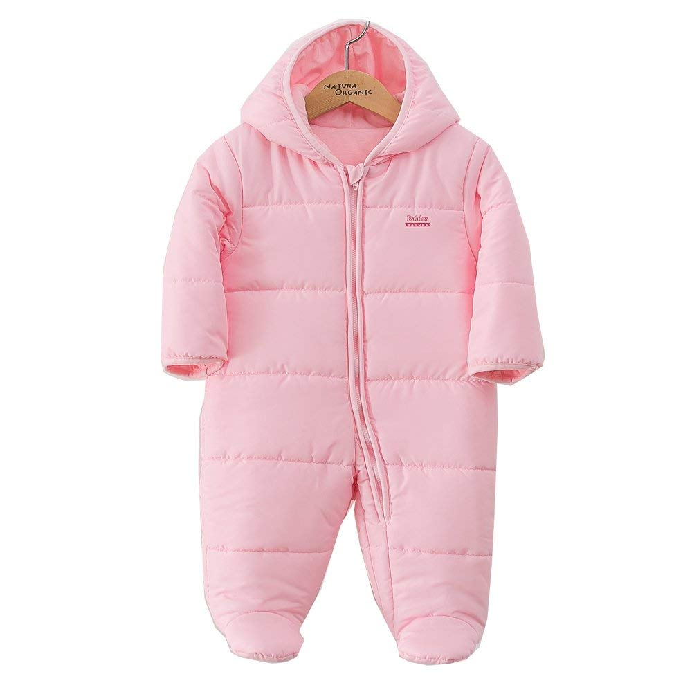 Padding Snowsuit Baby Boy and Girl Bunting Hooded 100% Certified Organic Cotton