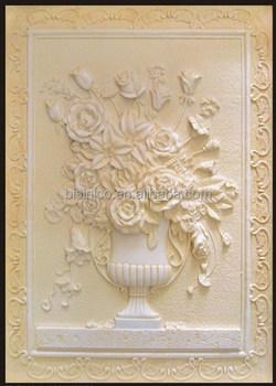 Vivid Floral Designed Sandstone Wall Plaque Wall Hanging Standstone