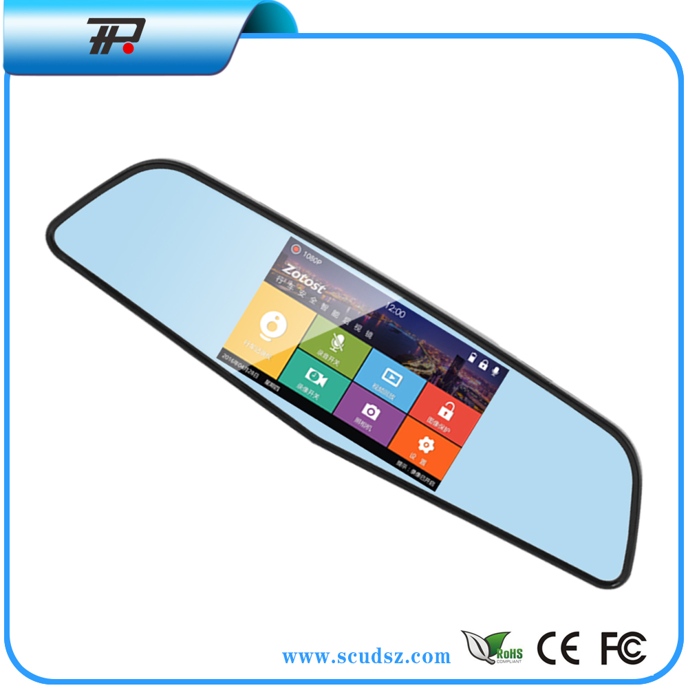 Smart Rearview Mirror with user manual fhd 1080p car camera dvr video recorder function(X6)