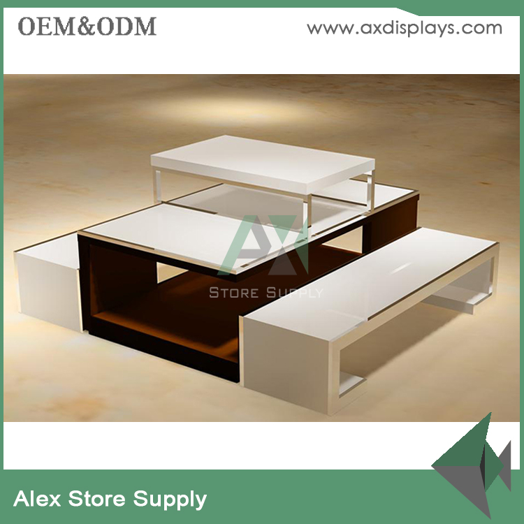 Clothes display table counters design for garment wholesale/retail