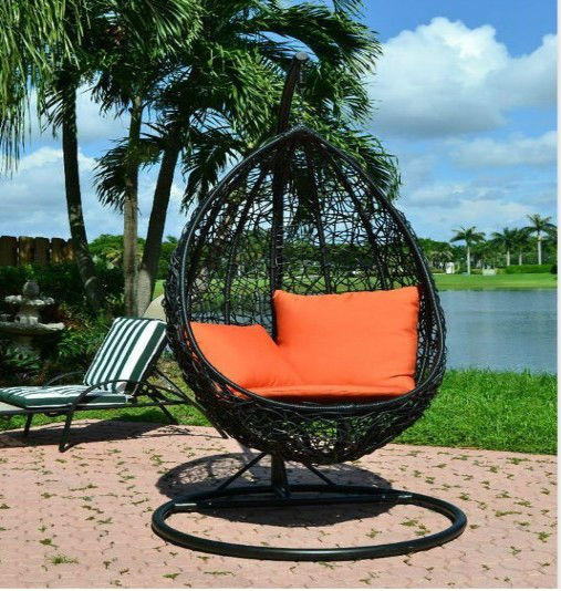 Outdoor Furniture Garden Patio Hanging Pod Chair Dw H001 Restaurant Chairs Rocking