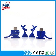 Fábrica china linda al por mayor proveedor canguro usb flash drive 16 gb con logo personalizadas