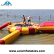 Commercial Grade Inflatable Water Trampoline With Catapult Blob Slide For Adults and Kids