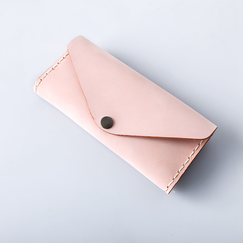 2017 Ladies Purses and Handbags Logo Custom Wax Leather Women Purse Wallets