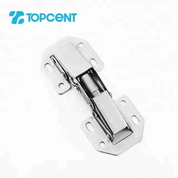 Topcent kitchen hardware nickel 90 degree locking soft close small spring door hinge