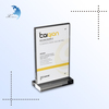 Hot sale custom printed acrylic sign holders 8.5 x 11 card advertising display stand with high quality