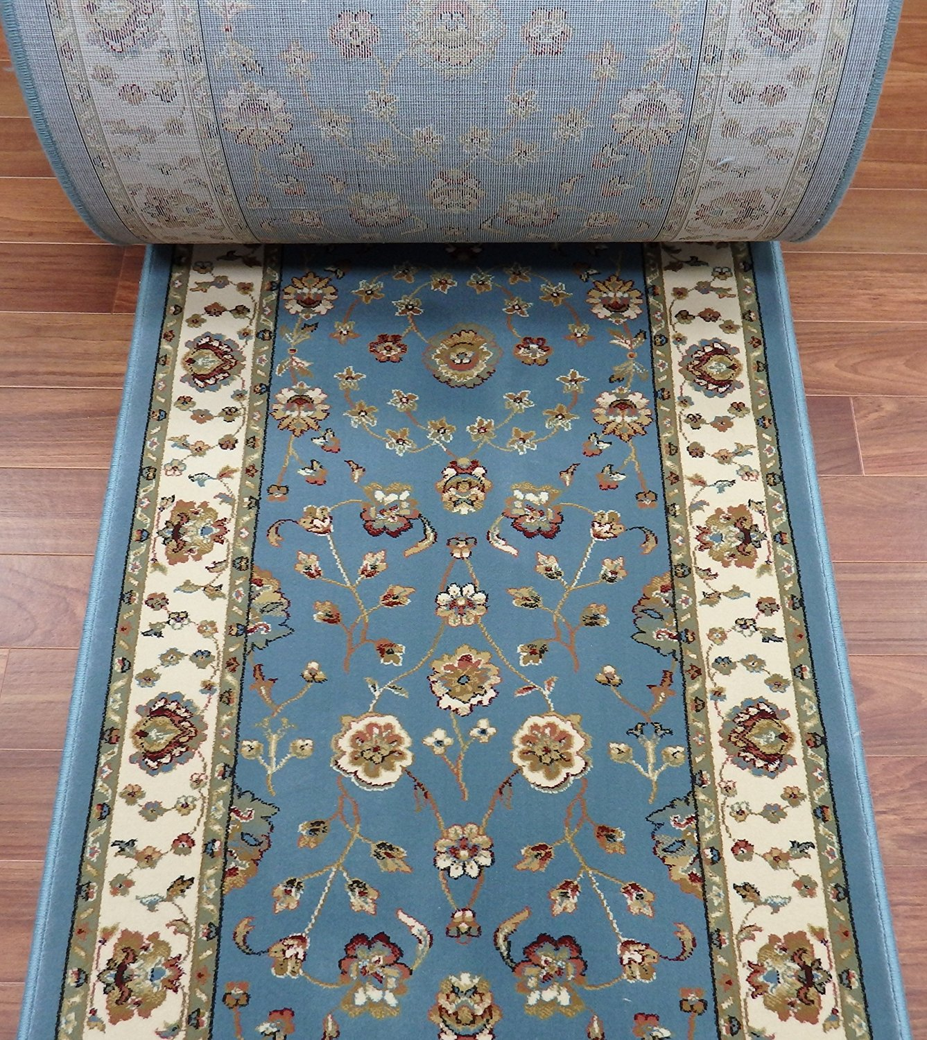 109252   Rug Depot Dynamic Radiance 43002 5464 Blue Traditional Hall And Stair  Runner