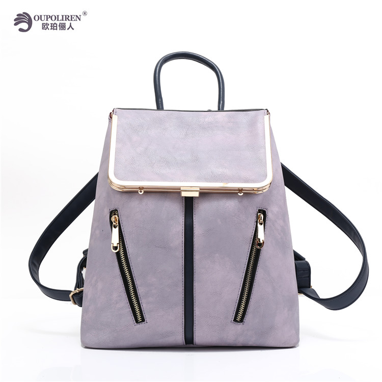2017 Korean Style Women Shoulder Backpack bags Factory Manufacturer PU leather School Backpack Girls Backpack for Travelling