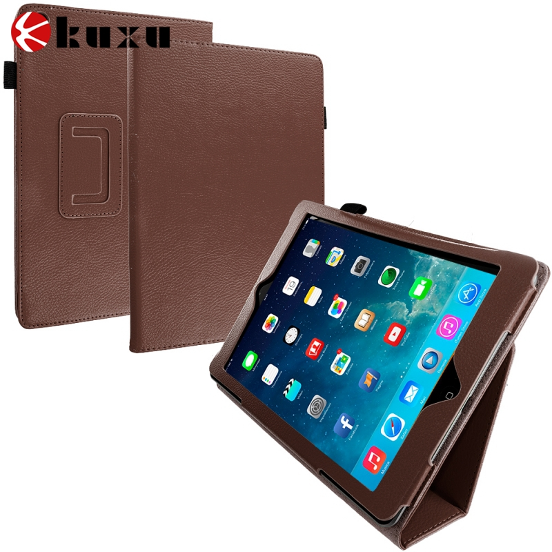 China manufacture Factory Customized 9.7 Inch Flip PU Leather Tablet Cover Case For iPad Air 2